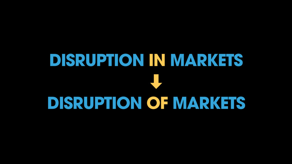 DISRUPTION IN MARKETS ‑ DISRUPTION OF MARKE...