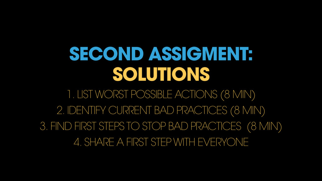 SECOND ASSIGMENT: SOLUTIONS 1. LIST WORST POSSI...