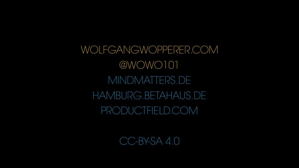 WOLFGANGWOPPERER.COM @WOWO101 MINDMATTERS.DE HA...