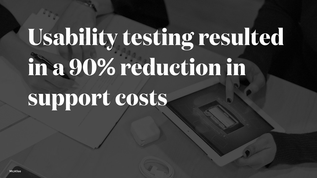 Usability testing resulted in a 90% reduction i...