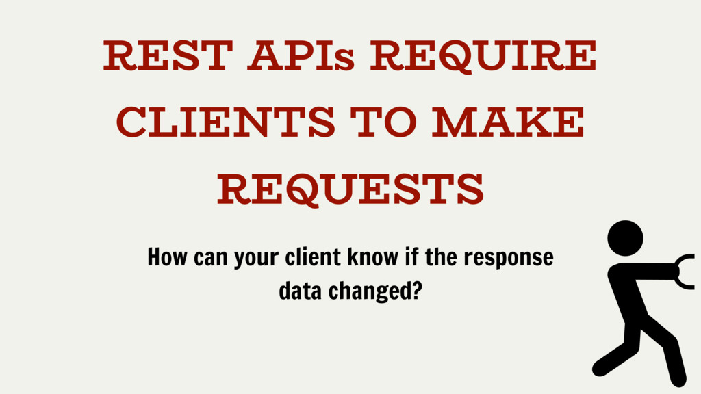 REST APIs REQUIRE CLIENTS TO MAKE REQUESTS How ...