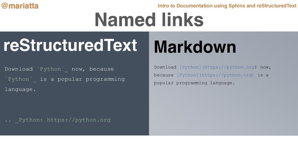 Named links reStructuredText Download [Python](...