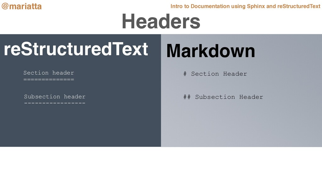 reStructuredText Intro to Documentation using S...