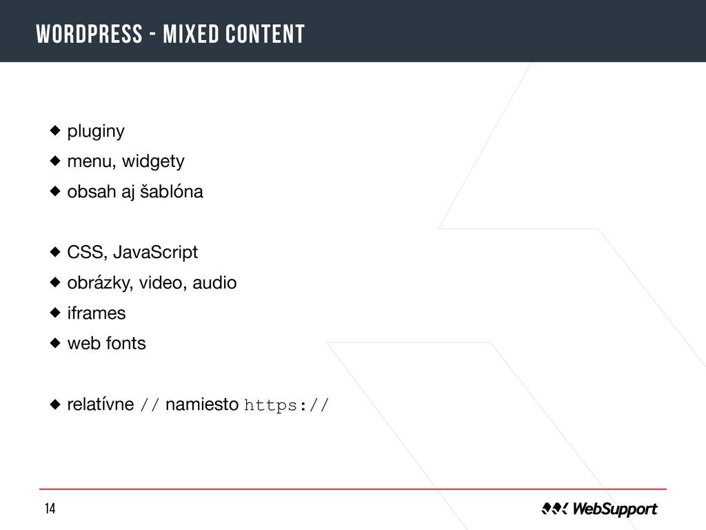 14 Wordpress - mixed content pluginy  menu, wid...