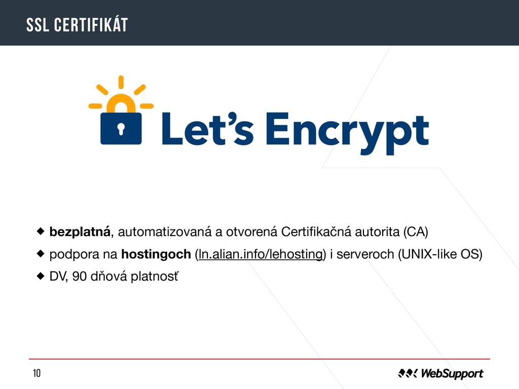 10 SSL certifikát bezplatná, automatizovaná a o...