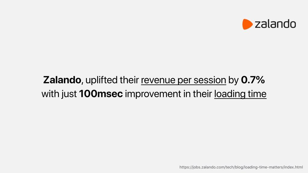 Zalando, uplifted their revenue per session by ...