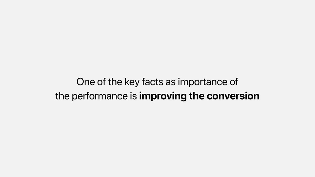 One of the key facts as importance of the perfo...