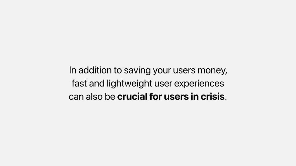 In addition to saving your users money, fast an...