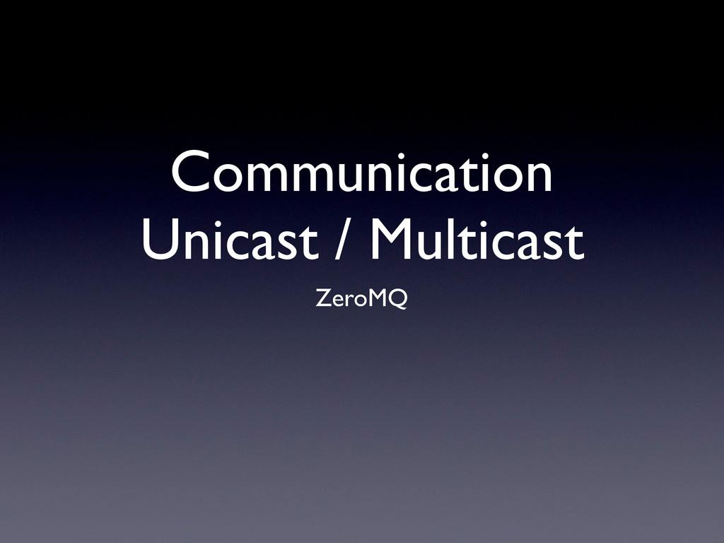 Communication Unicast / Multicast ZeroMQ