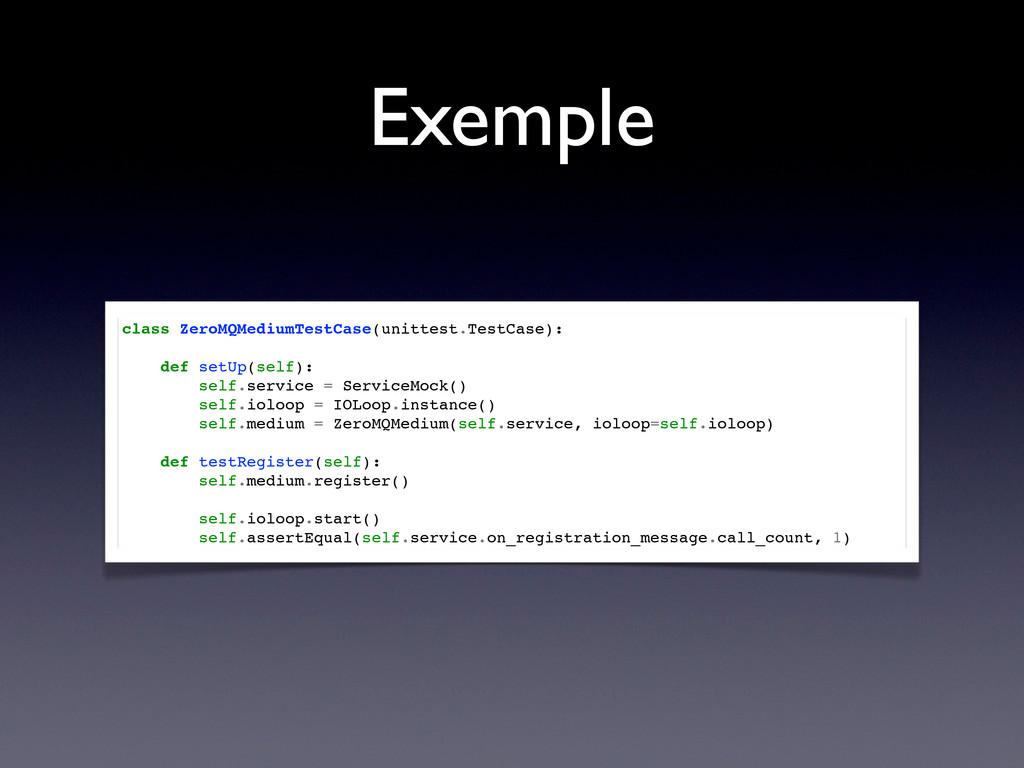 Exemple class ZeroMQMediumTestCase(unittest.Tes...