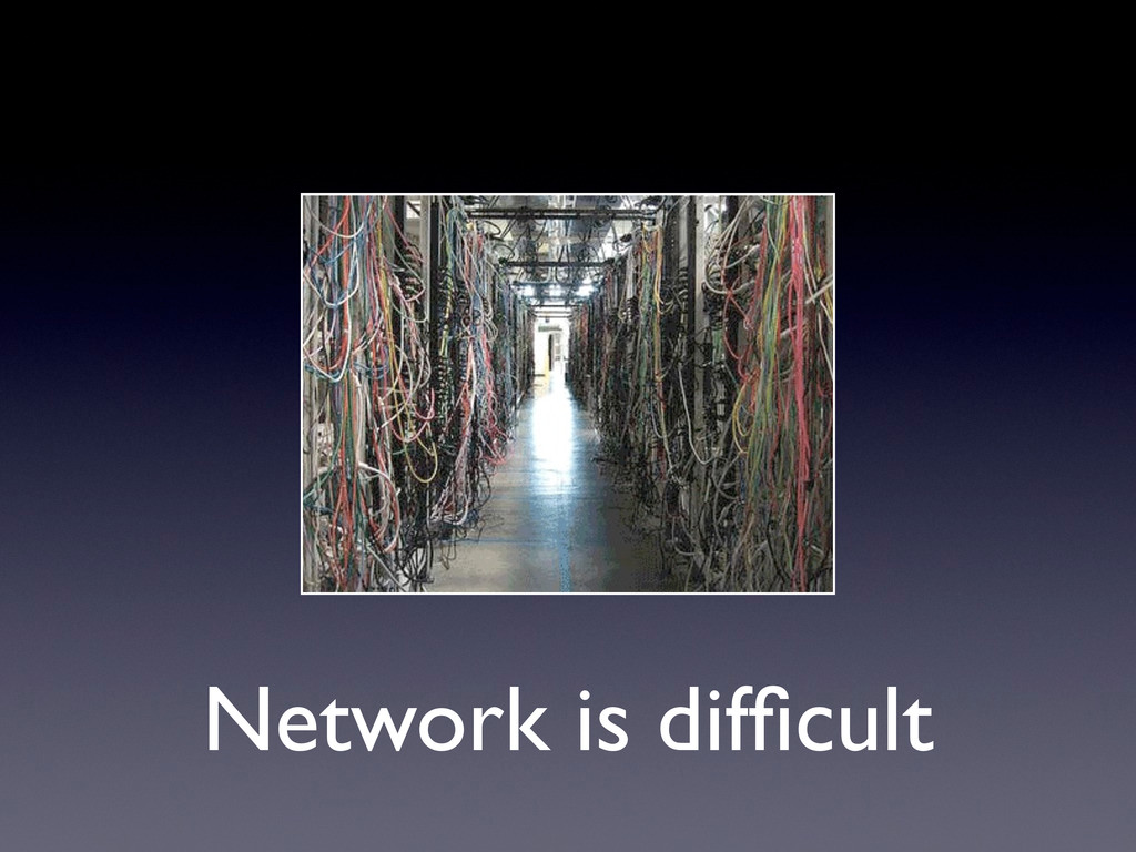Network is difficult