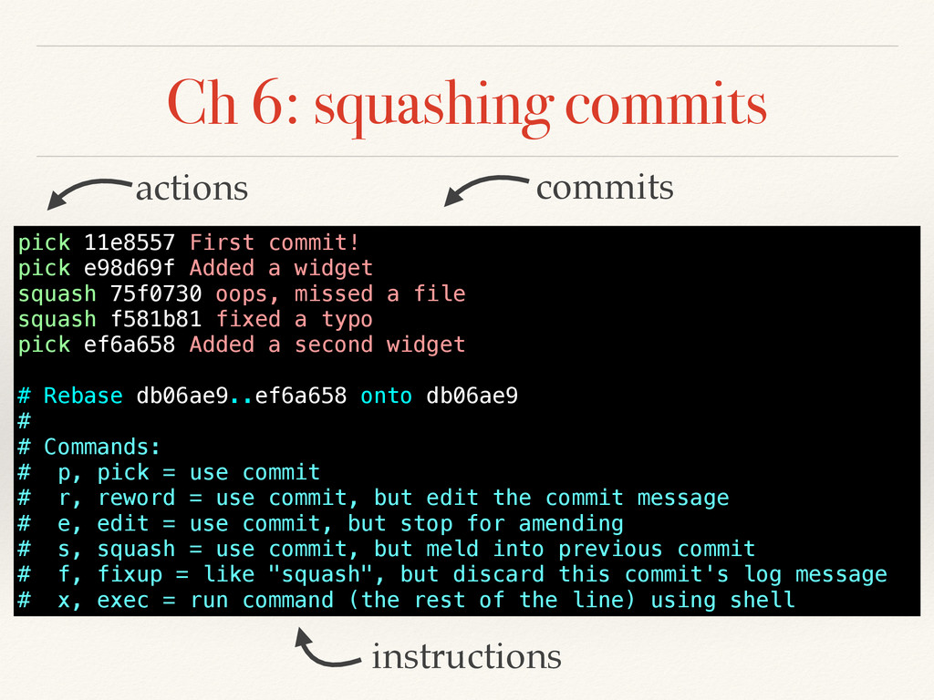 Ch 6: squashing commits instructions commits ac...