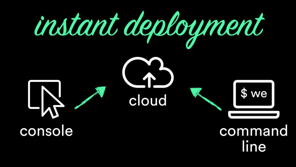 cloud instant deployment console command line $...