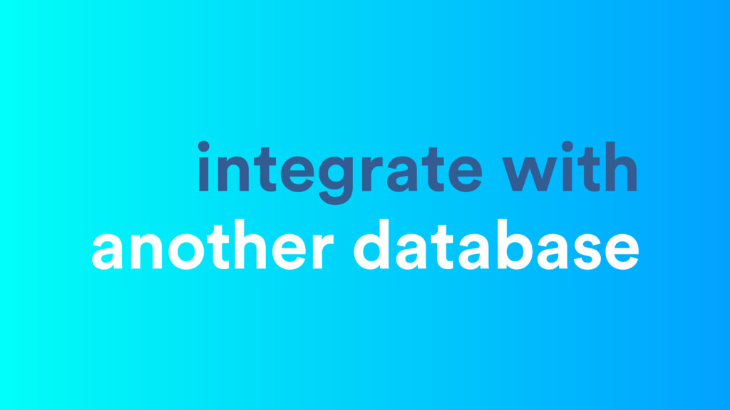 integrate with another database