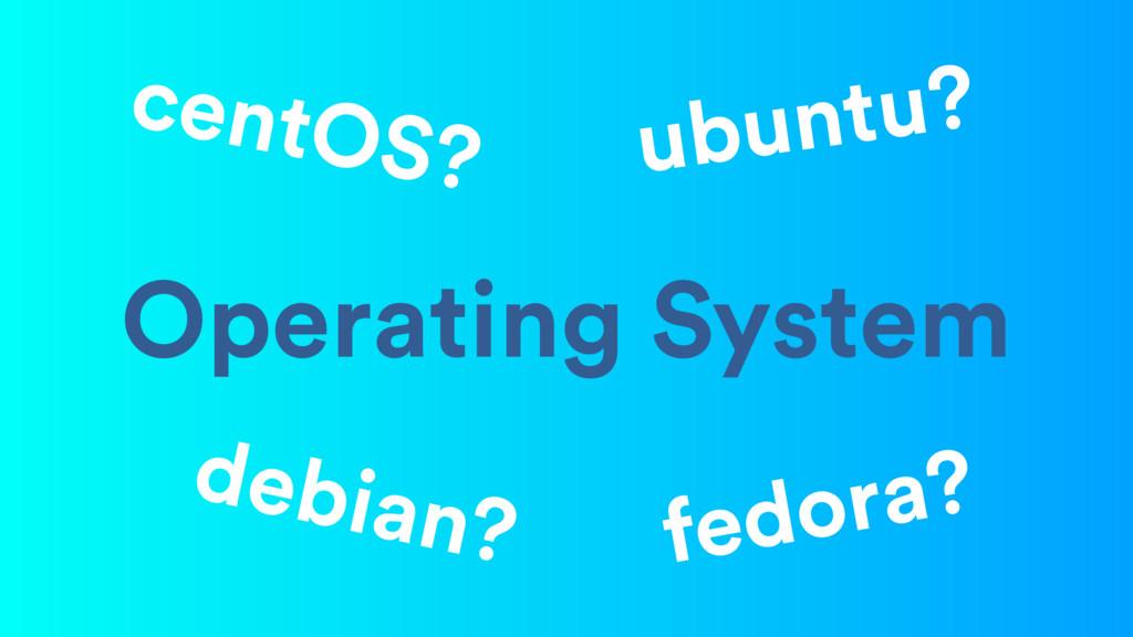 Operating System ubuntu? centOS? debian? fedora?