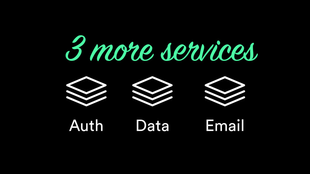 Auth 3 more services Data Email