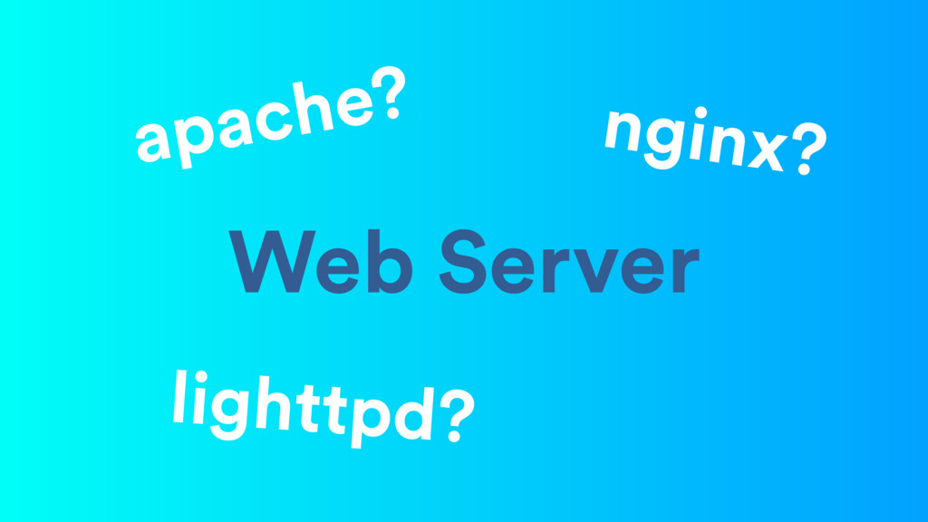 Web Server lighttpd? nginx? apache?