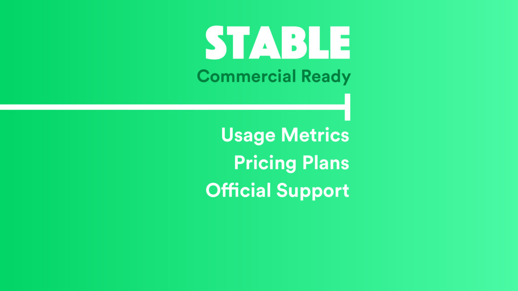 Stable Commercial Ready Usage Metrics Pricing P...