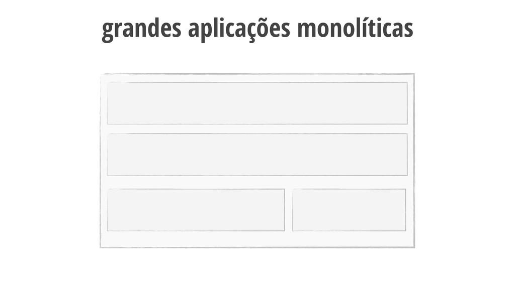 12 grandes aplicações monolíticas