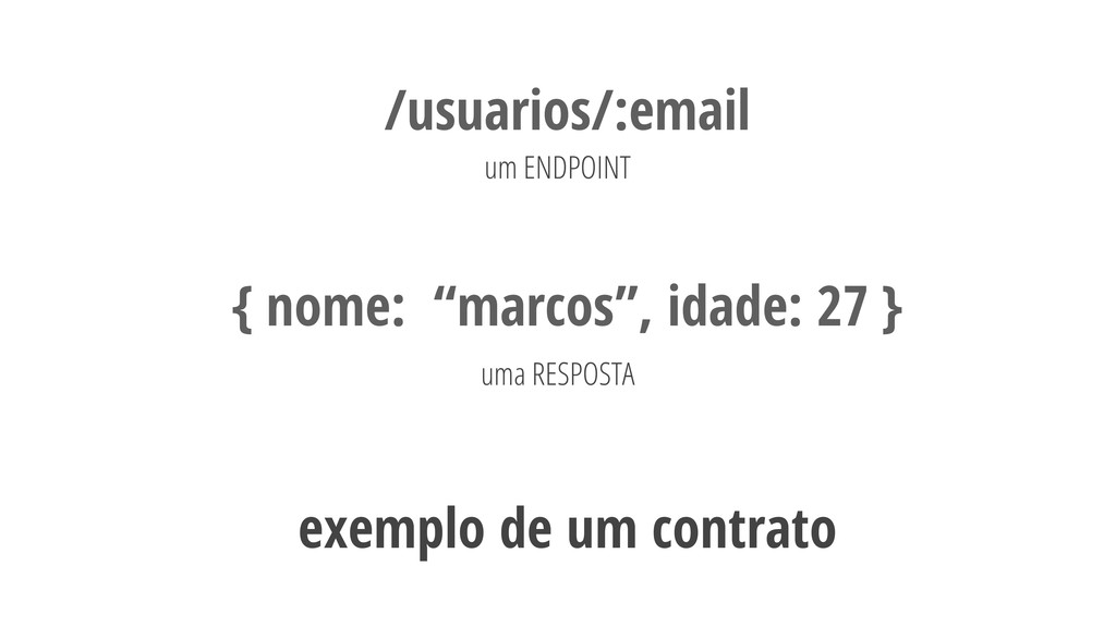 """23 /usuarios/:email um ENDPOINT { nome: """"marcos..."""