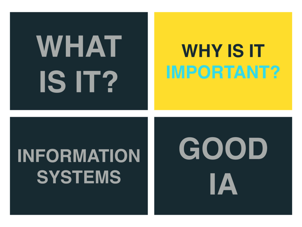 WHAT IS IT? WHY IS IT IMPORTANT? INFORMATION SY...