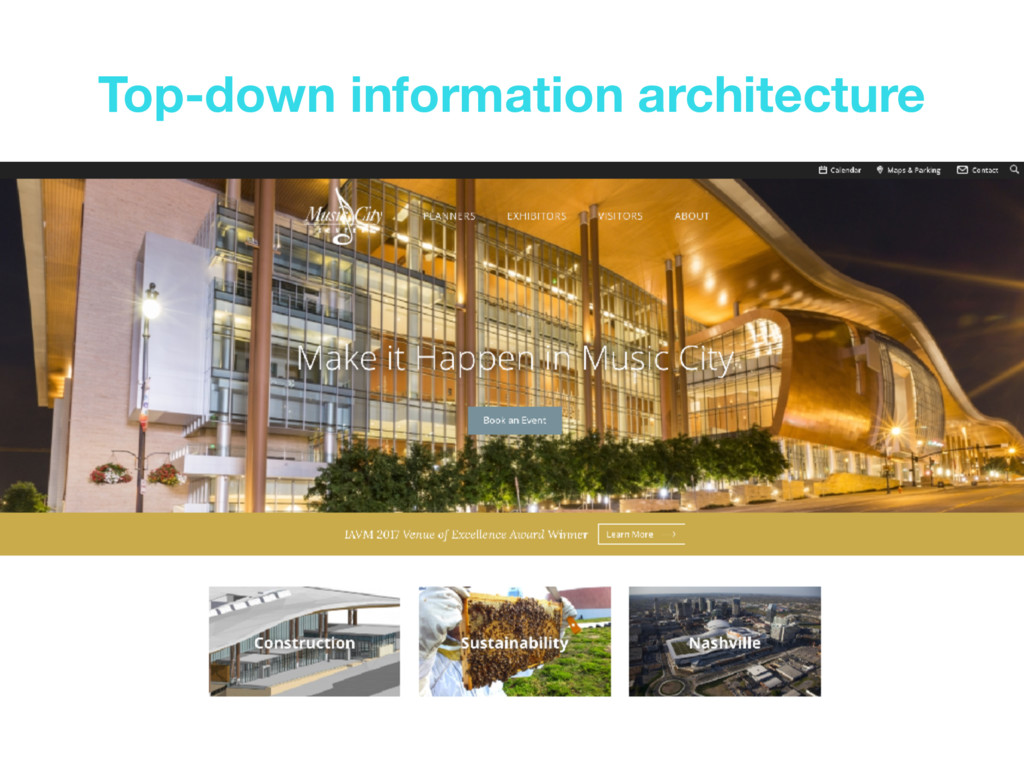 Top-down information architecture