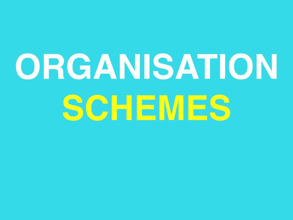 ORGANISATION SCHEMES