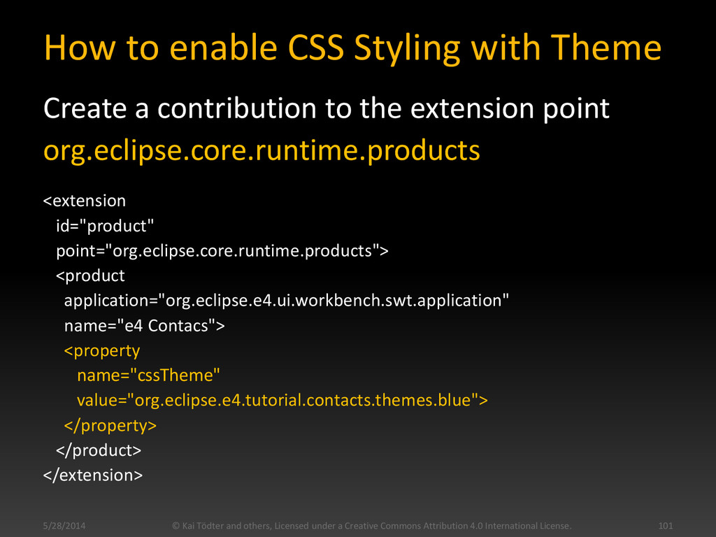 How to enable CSS Styling with Theme Create a c...