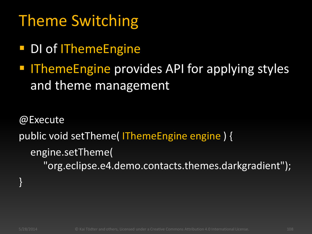 Theme Switching  DI of IThemeEngine  IThemeEn...