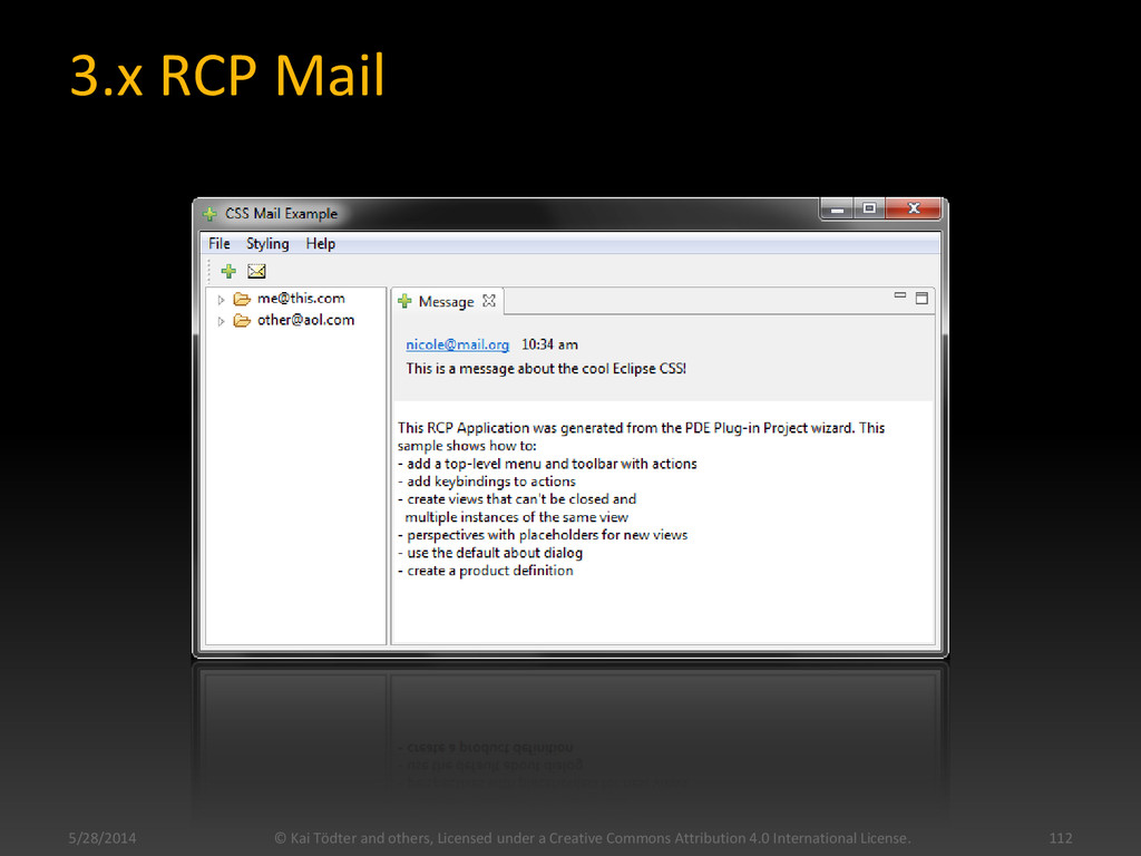 3.x RCP Mail © Kai Tödter and others, Licensed ...