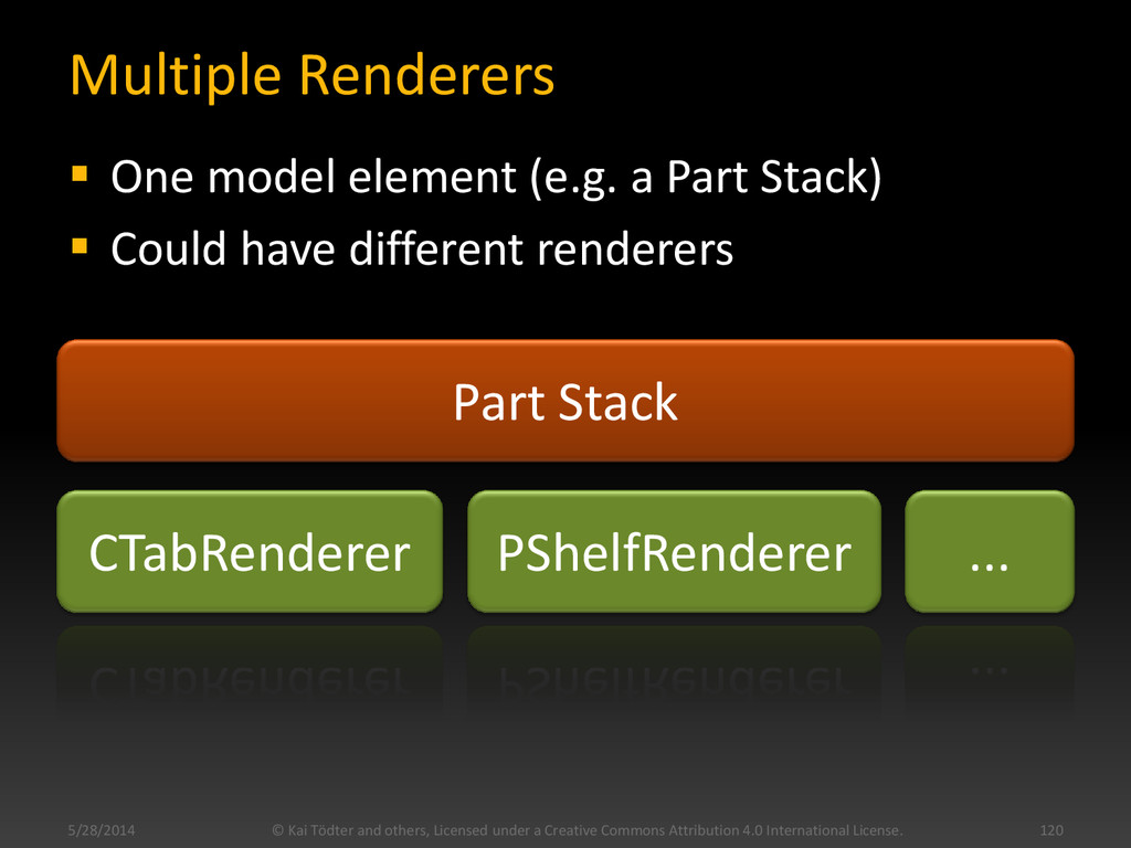 Multiple Renderers  One model element (e.g. a ...