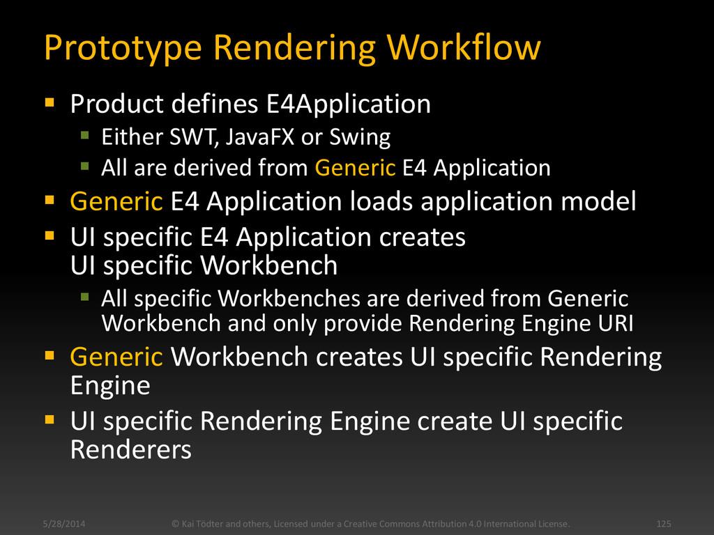 Prototype Rendering Workflow  Product defines ...