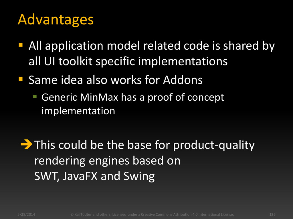 Advantages  All application model related code...