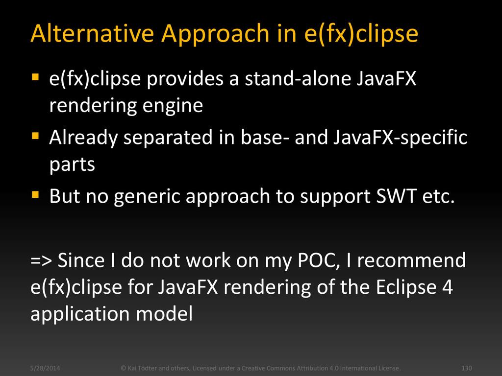 Alternative Approach in e(fx)clipse  e(fx)clip...