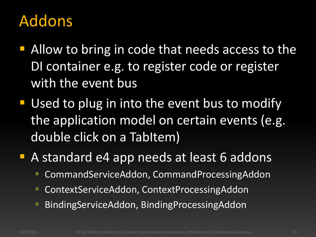 Addons  Allow to bring in code that needs acce...