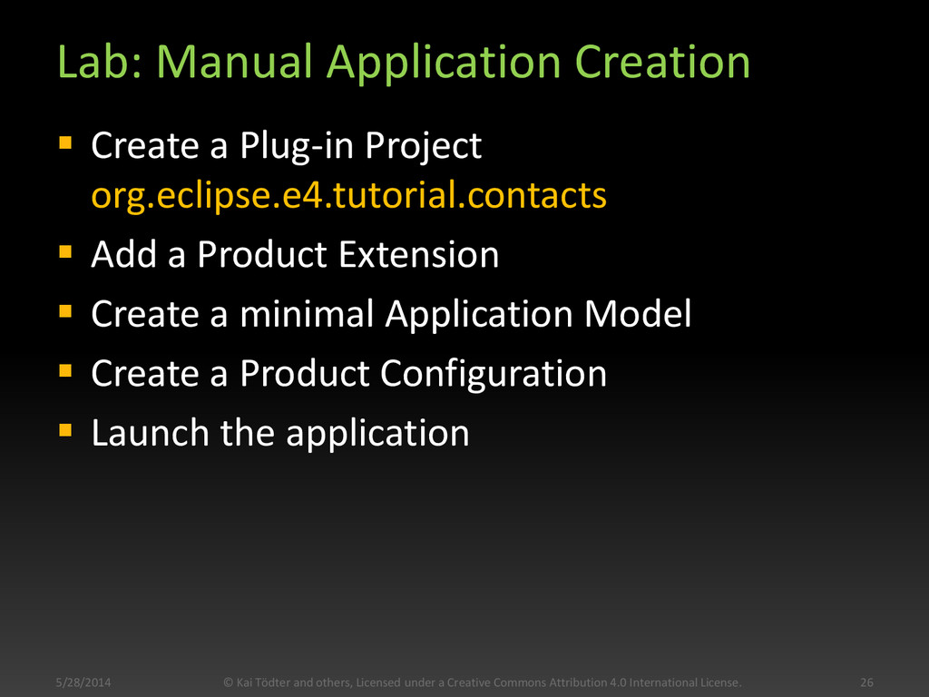 Lab: Manual Application Creation  Create a Plu...