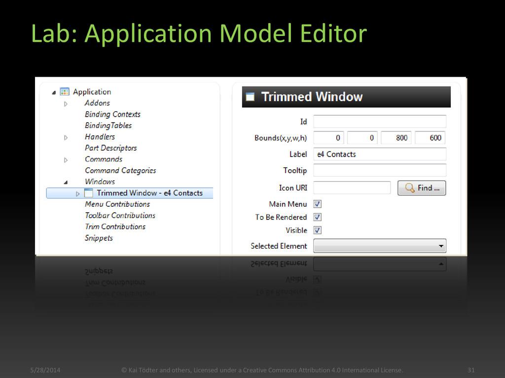Lab: Application Model Editor 5/28/2014 31 © Ka...