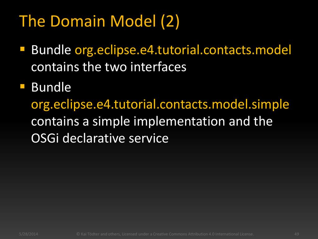 The Domain Model (2)  Bundle org.eclipse.e4.tu...