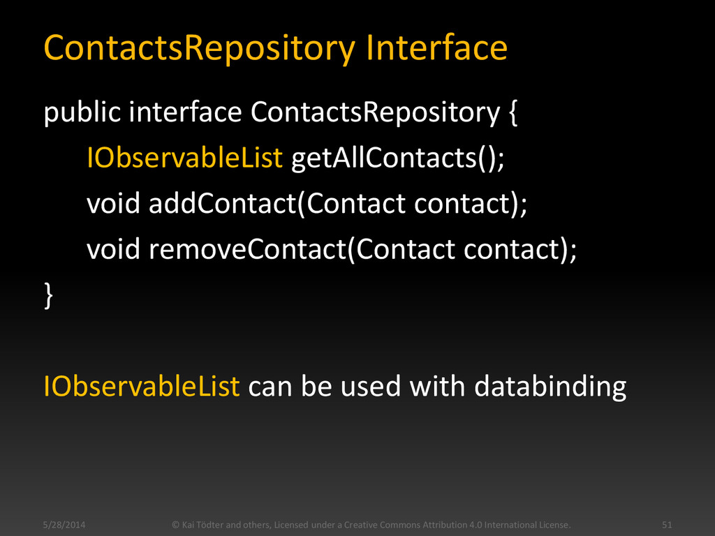 ContactsRepository Interface public interface C...