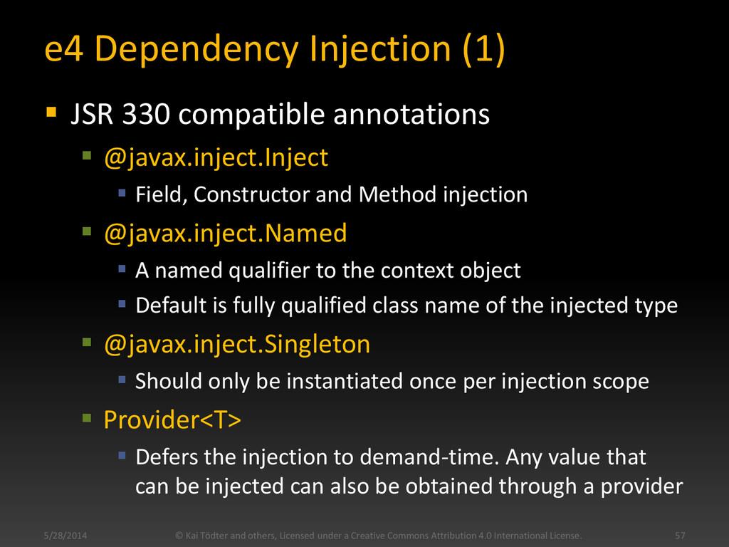 e4 Dependency Injection (1)  JSR 330 compatibl...