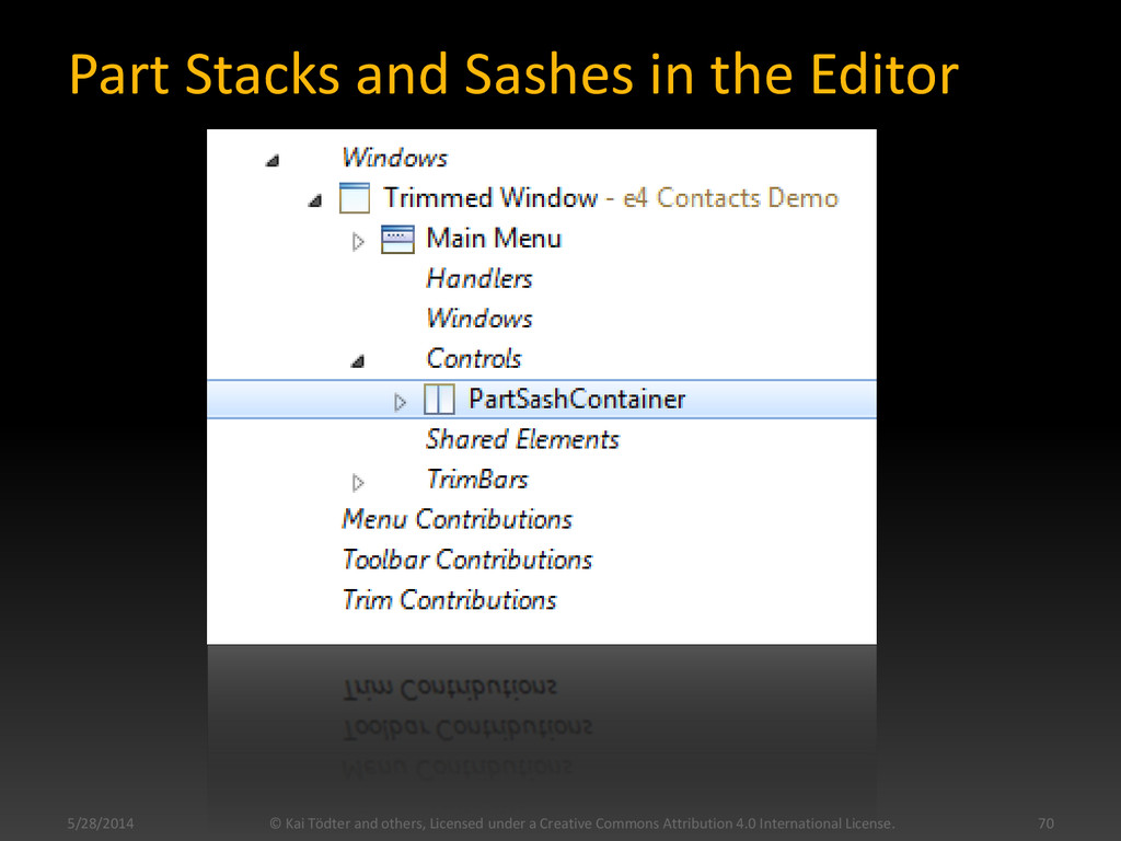 Part Stacks and Sashes in the Editor 5/28/2014 ...