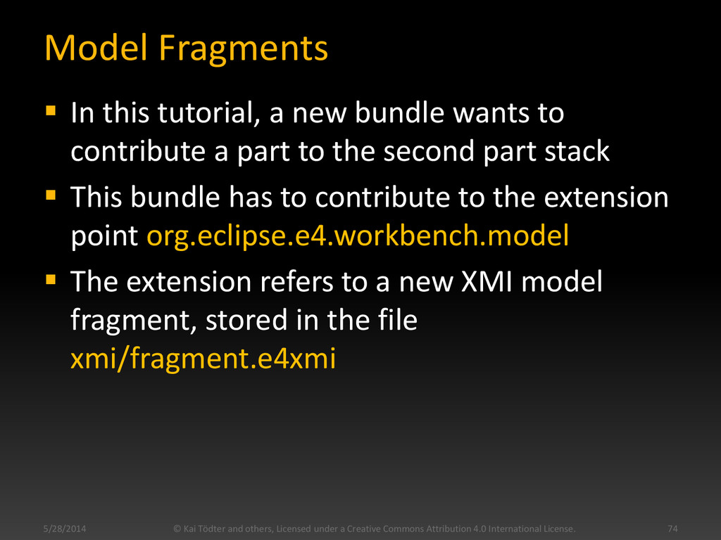 Model Fragments  In this tutorial, a new bundl...