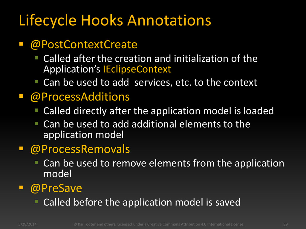 Lifecycle Hooks Annotations  @PostContextCreat...