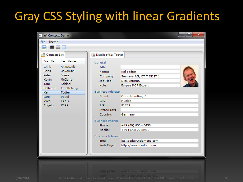 Gray CSS Styling with linear Gradients © Kai Tö...