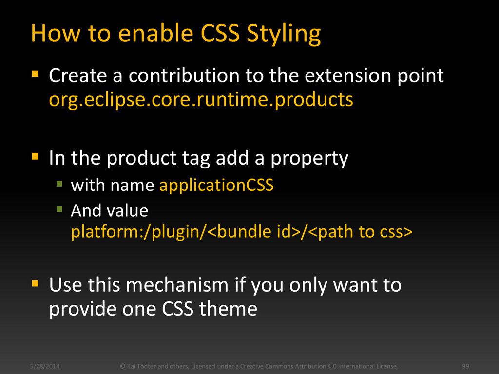 How to enable CSS Styling  Create a contributi...
