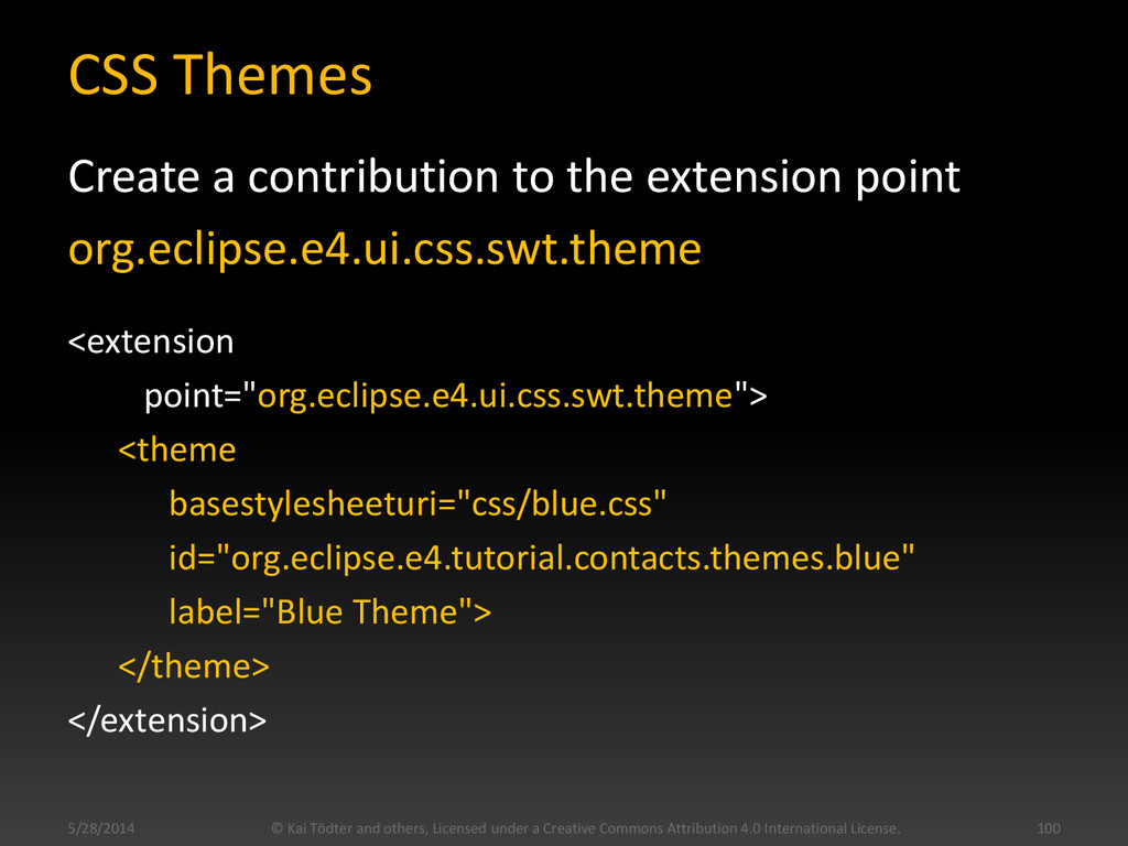 CSS Themes Create a contribution to the extensi...