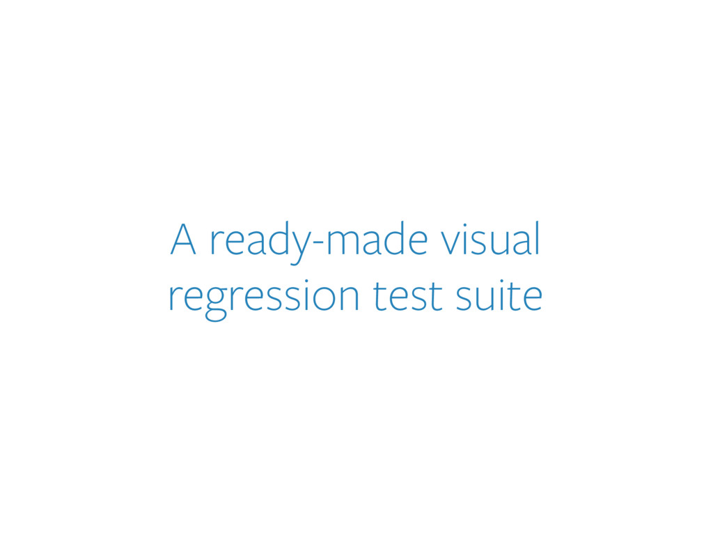 A ready-made visual 