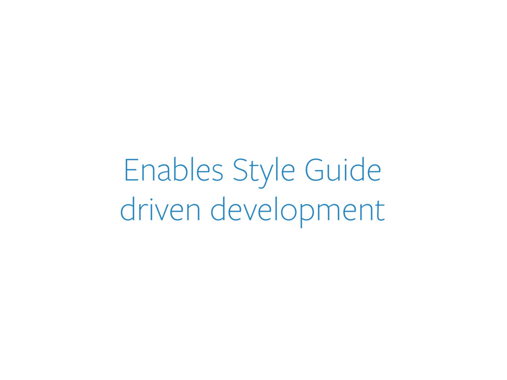 Enables Style Guide 