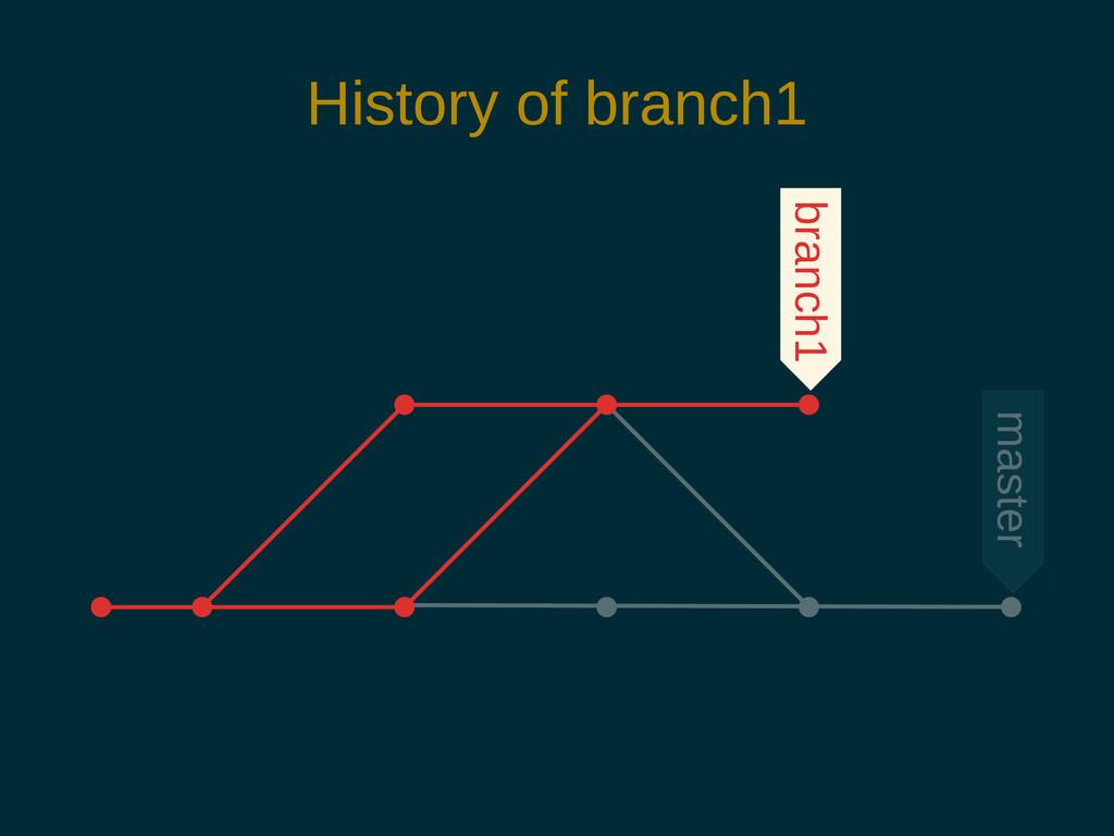 History of branch1 branch1 master