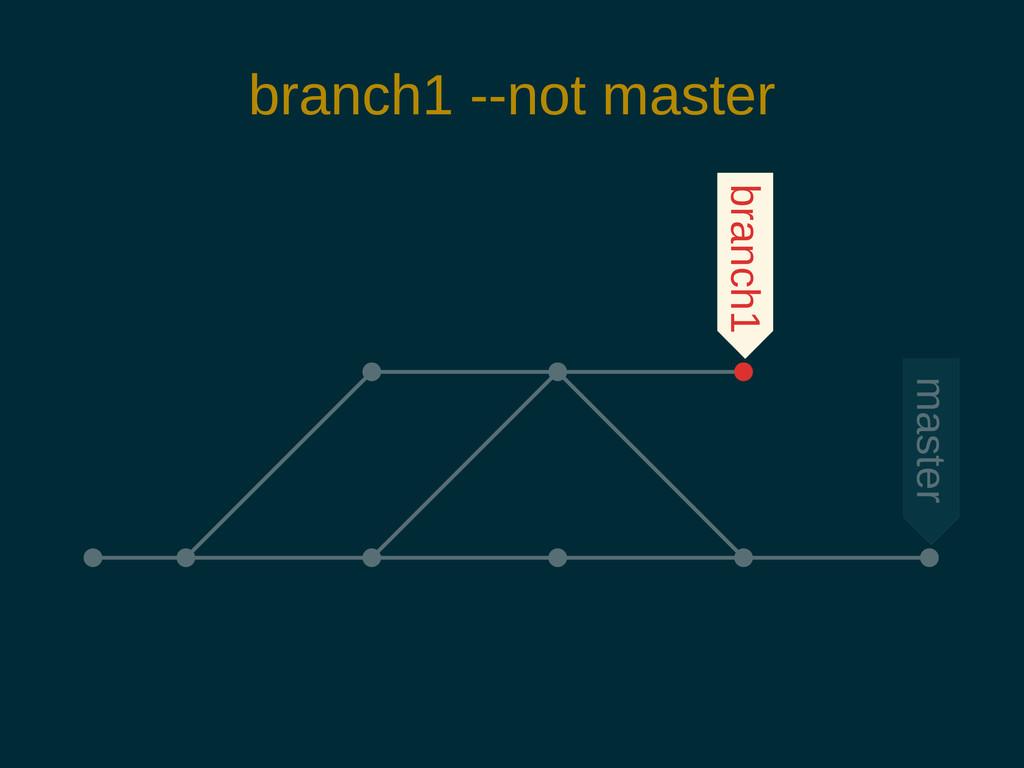 branch1 --not master branch1 master